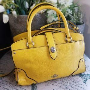 Yellow Mini Coach Bag